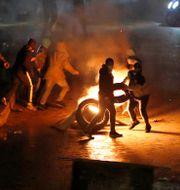 Protester i Tripoli, 29 januari.  Hussein Malla / TT NYHETSBYRÅN