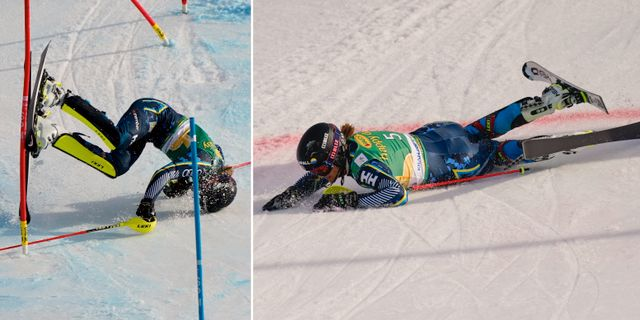 Anna Swenn-Larsson kraschar. TT