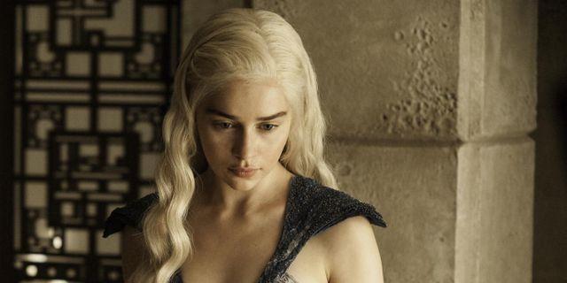 Emilia Clarke, även känd som Daenerys Targaryen i Game of thrones. Arkivbild. Helen Sloan / TT NYHETSBYRÅN