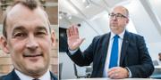 Debattören Mikael Sandström/LO-basen Karl-Petter Thorwaldsson. TT