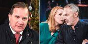Stefan Löfven, Annie Lööf och Jan Björklund.  TT
