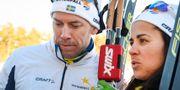 Emil Jönsson och Anna Haag i Falun. Ulf Palm/TT / TT NYHETSBYRÅN