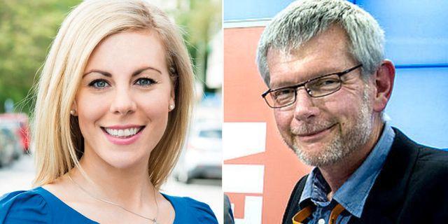 Jessica Rosencrantz (M) och Anders Åkesson (C). Arkivbilder. TT