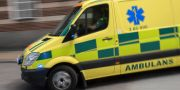 Mannen fördes till sjukhus med ambulans. Johan Nilsson/TT / TT NYHETSBYRÅN