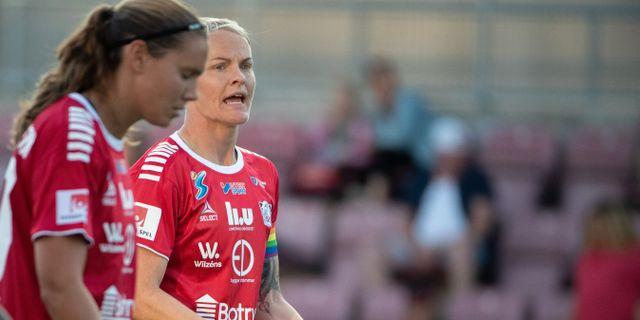 Nilla Fischer under måndagens match. Per Karlsson/TT / TT NYHETSBYRÅN