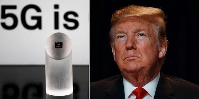 Huawei, Donald Trump.  TT