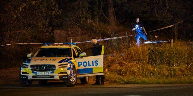 Bild från brottsplatsen. Fredrik Persson /TT / TT NYHETSBYRÅN