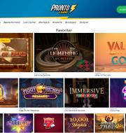 Skärdump: Pronto Casino
