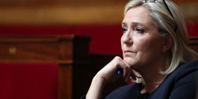 Marine Le Pen. Thibault Camus / TT NYHETSBYRÅN
