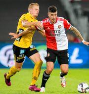 Bild från matchen.  KAY INT VEEN / BILDBYRÅN