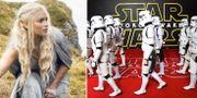 Emilia Clarke som Daenerys Targaryen, stormtroopers. Arkivbilder. HBO, AP
