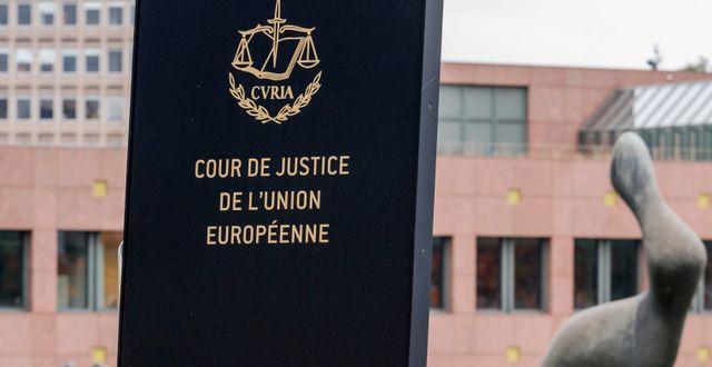 EU-domstolen. Geert Vanden Wijngaert / TT NYHETSBYRÅN