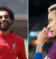 Mo Salah och Neymar möts på tisdagen. TT