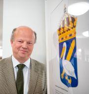 Statsheraldikern Henrik Klackenberg. Jessica Gow/TT / TT NYHETSBYRÅN