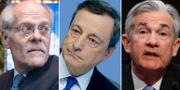 Stefan Ingves, Mario Draghi, Jerome Powell. TT
