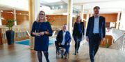 I Göteborg inleder Alliansen och vänsterblocket med V, Fi och MP ett samarbete. Presskonferens med Emmyly Bönfors (C), Axel Josefson (M), Helene Odenjung (FP) och David Lega (KD).  Thomas Johansson / TT NYHETSBYRÅN