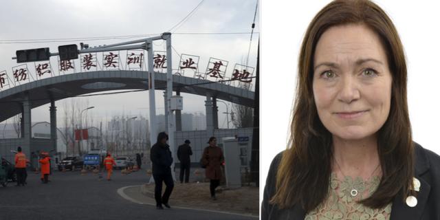 Fabrik i Xinjiang, en av de platser där tvingad arbetskraft förekommer/Ann-Sofie Alm TT/Riksdagen