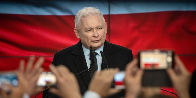 Jaroslaw Kaczynski, ledare för PiS. WOJTEK RADWANSKI / AFP PHOTO