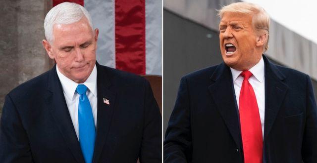Mike Pence och Donald Trump. TT.