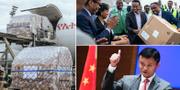 Försändelsen / Etiopiens hälsominister Lia Tadesse tar emot ett av paketen / Jack Ma TT