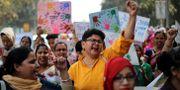 Arkivbild. Internationella kvinnodagen i New Delhi, mars 2018. Manish Swarup / TT / NTB Scanpix
