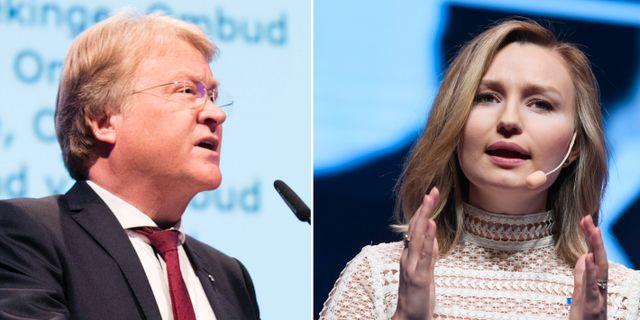Lars Adaktusson och Ebba Busch Thor. TT