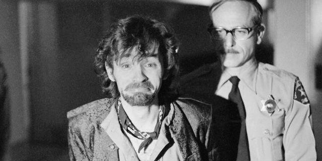 Charles Manson under rättegången 1970. George Brich / TT NYHETSBYRÅN