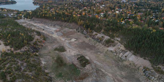 Platsen för den planerade skidstadion i Hamra Pontus Lundahl/TT / TT NYHETSBYRÅN