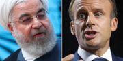 Hassan Rouhani/Emmanuel Macron. TT