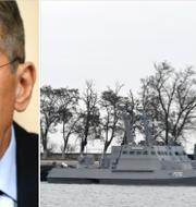 Sergej Lavrov kommenterade de ukrainska beslagtagna fartygen. TT