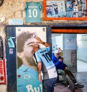 Argentinarna sörjer sin hjälte. Alessandro Garofalo / TT NYHETSBYRÅN