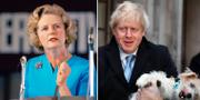 Margaret Thatcher/Boris Johnson.  TT
