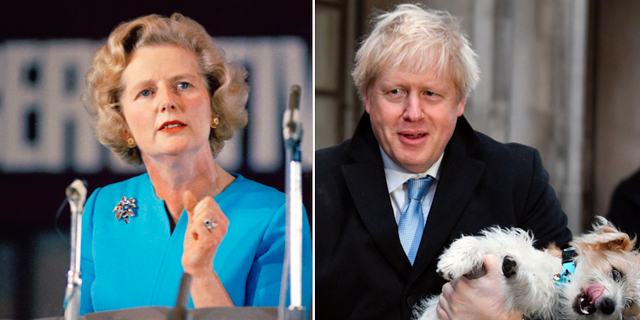 Margaret Thatcher/Boris Johnson.  TT