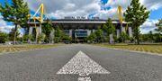 Ingen rusning till Signal Iduna Park i Dortmund. Martin Meissner / TT NYHETSBYRÅN