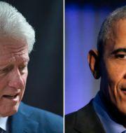 Bill Clinton och Barack Obama.  TT