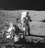 Alan Shepard/Arkivbild från 1971 TT NYHETSBYRÅN