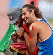 Gianmarco Tamberi och Mutaz Essa Barshim.  Bildbyrån.