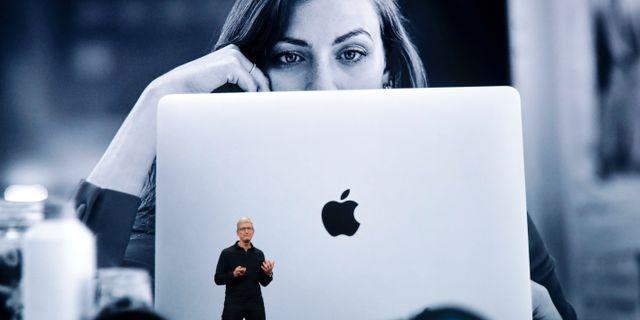 Tim Cook vid Apple-event i somras. Arkivbild. Jeff Chiu / TT NYHETSBYRÅN