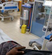 Bild från en intensivvårdsavdelning i Nairobi. Brian Inganga / TT NYHETSBYRÅN