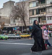 Gatubild från Teheran.  Yvonne Åsell/SvD/TT / TT NYHETSBYRÅN