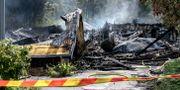 Slottsskogshallen efter branden Björn Larsson Rosvall/TT / TT NYHETSBYRÅN