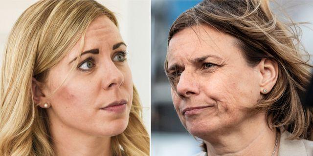 Jessica Rosencrantz och Isabella Lövin. TT.