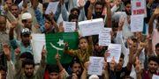 Demonstranter i Srinagar. Dar Yasin / TT NYHETSBYRÅN/ NTB Scanpix