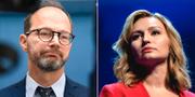 Infrastrukturminister Tomas Eneroth (S) / KD:s partiledare Ebba Busch TT