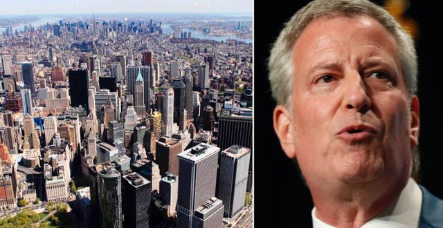 New York / Borgmästaren Bill de Blasio. TT