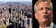 New York / Borgmästaren Bill de Blasio. TT