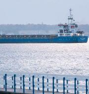 Lastfartyget Baltic Carrier. Johan Nilsson/TT / TT NYHETSBYRÅN