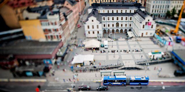 Slussen i Stockholm.  ERIK MÅRTENSSON / TT / TT NYHETSBYRÅN