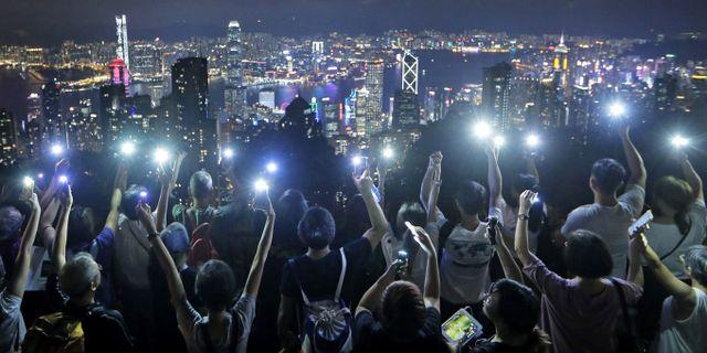 Demonstranter i Hongkong. TT