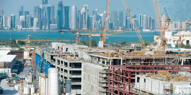 Byggarbetsplatser i Doha inför stundande fotbolls-VM JESSICA GOW / TT / TT NYHETSBYRÅN